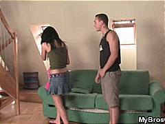 Skinny Teen Cheats Messy Facial Rides...