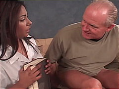 Lovely Busty Babes Serving Grandpa's ...