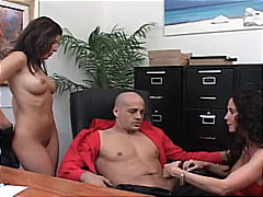 Two hot office babes f...