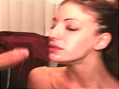 Hot blowjob and messy facial