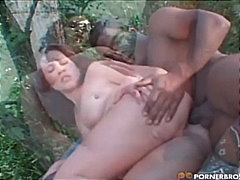 beauty, big dick, big cock, brunette, interracial