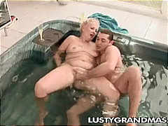 rough fuck, granny, pool,