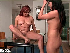 Lesbian MILF gets licked by her lover