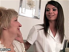 Hot nurse gives pills to grandma and ...