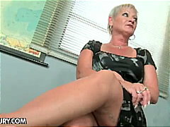 Old teacher, granny Cecily, seduces s...