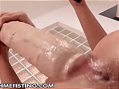 Horny blonde bitch opens pussy for ho...