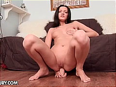 Horny brunette Noir solo pussy and as...