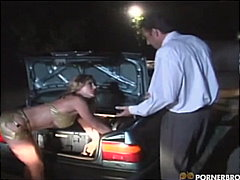 platinum blonde, big cock, mom, car