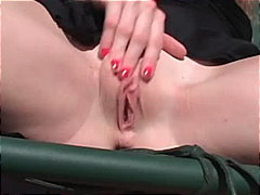 Cum hungry redhead sucks deep and get...
