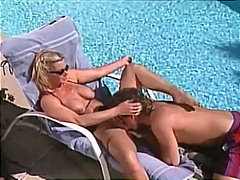 busty, beauty, rough fuck, big boobs, pool, massive tits, mom, huge tits, platinum blonde, big cock, doggy style, cowgirl