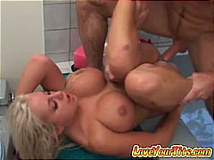 rough fuck, big boobs, blonde, huge tits, titjob