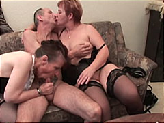 granny, 3some, threesome, mature, dildo, ffm