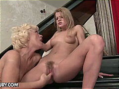 lesbian, blondes, old and young, babe, pussy, old young, beauty, granny, blonde, mature