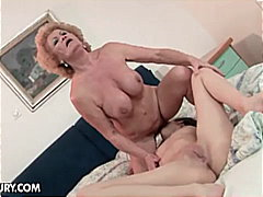 Porner Bros - Busty lesbian granny for sweet brunette pussy