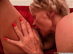 softcore, pussy eating, masturbation, make-out, caucasian, toy, grandma, blonde
