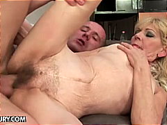 doggy style, blonde, old and young