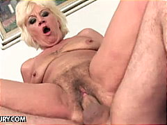 Bald chick loves two cocks inside her