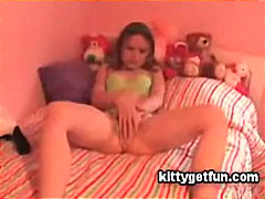 Cute teen masturbates in this free tu...