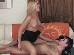 Horny blonde mom gets stripped and ha...