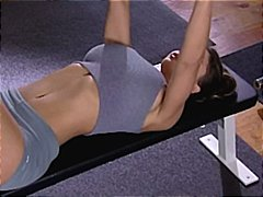 Nuvid Movie:Busty brunette Candy exercises...