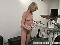 boobs, blonde, masturbating, hairy,