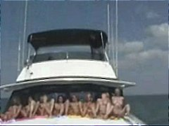 Nuvid - Lots of naked babes on a boat eating pussy and showing asses