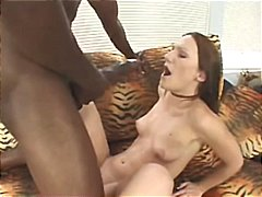 brunette, interracial, facial,