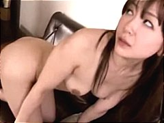 Asian girl sucks his cock and then be...