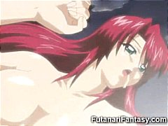 Horny hentai tranny destroying the fa...