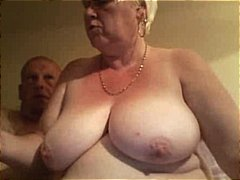 Fat old blonde amateur granny spreads...