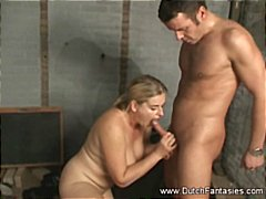 Chubby mature blonde comes in for her...