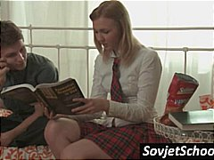Shy Russian girl is st...