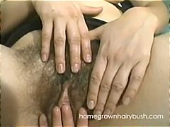 Chubby amateur brunette lesbian and h...