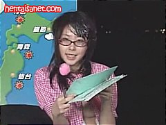 Nuvid Movie:Asian newscaster gets cum in h...