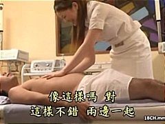 Masseuse gets a turn around when she gets his cock to blow and screw