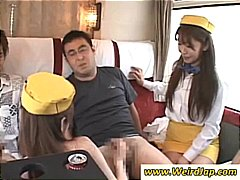 japanese, group sex, asian, stewardess, hot pussy, blowjob