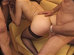 gangbang, dped, stockings, blowjob