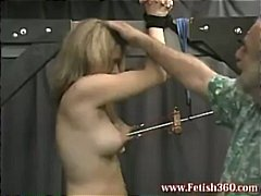 Blonde slave is tied up an... - 05:00