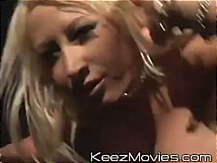 Hot blonde cougar has huge boobs and ...