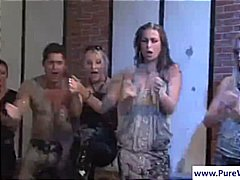 wet, lesbian, catfight, party