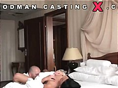 Sexy young brunette Rihanna Samuel gets cast to fuck old dude