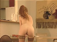 Young redhead teen in pigtails gets a...