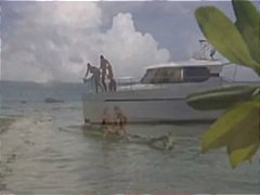 Nuvid - Lucky guy takes two hot chicks out on the boat for a threesome fuck