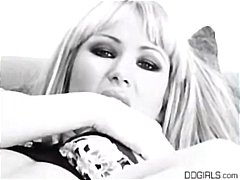 Busty blonde Sandy Westgate gives a h...
