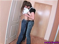 Nuvid Movie:Teen brunette goes down on boy...