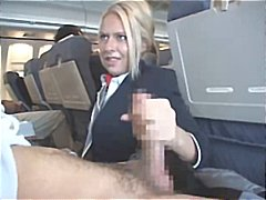 Nuvid Movie:Blonde stewardess is happy to ...