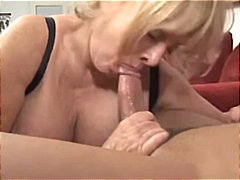 Mature blonde with hug... video