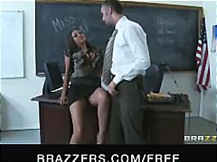Latina teacher with bi...