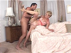 Mature blonde, Helena, can ride a you...