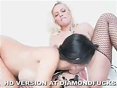 Busty, lesbian babes, Diamond Kitty and Br...